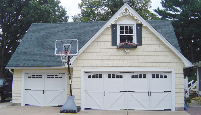 courtyard style garage doors